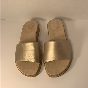 Easy Spirit Shoes - New Sz 8.5 W Blush Bronze Leather Sandal Slides